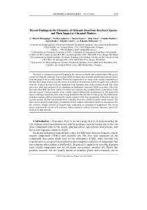 Recent Findings in the Chemistry of Odorants ... - Wiley Online Library