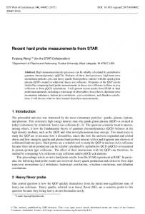 Recent hard probe measurements from STAR - EPJ Web of Conferences