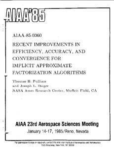 Recent improvements in efficiency, accuracy, and convergence for ...