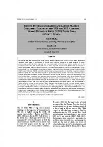 Recent internal migration and labour market outcomes: Exploring the ...