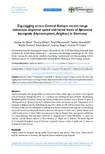 recent range extension, dispersal speed and larval hosts of Aproceros ...