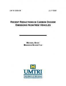recent reductions in carbon dioxide emissions from new ... - CiteSeerX