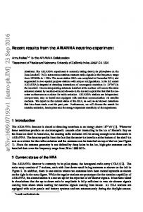Recent results from the ARIANNA neutrino experiment