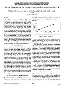 Recent Results from the Dynamic Aperture Experiment at the ... - CERN