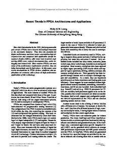 Recent Trends in FPGA Architectures and Applications