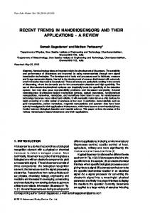recent trends in nanobiosensors and their applications - a review