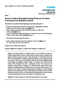 Recent Trends in Renewable Energy Resources for Power ... - MDPI