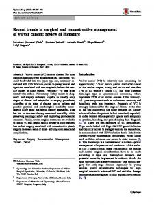Recent trends in surgical and reconstructive management of vulvar ...