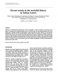 Recent trends in the mobulid fishery in Indian waters - Central Marine ...