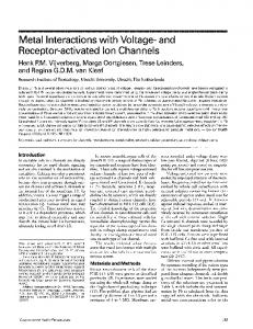 Receptor-activated Ion Channels - BioMedSearch