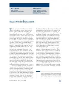 Recessions and Recoveries - Federal Reserve Bank of Dallas
