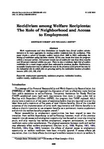 a discussion of the recipients misuse of welfare system benefits Robert is a leading authority on poverty, welfare programs and immigration in america the intention of welfare programs is to benefit low income americans, especially children yet the evidence.