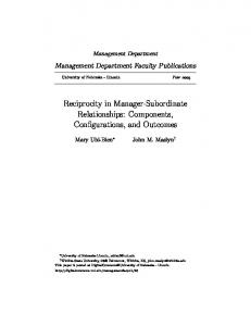 Reciprocity in Manager-Subordinate Relationships