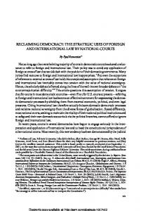 reclaiming democracy: the strategic uses of foreign and ... - SSRN