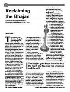 Reclaiming the Bhajan - Mission Frontiers