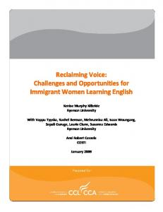 Reclaiming Voice: Challenges and Opportunities for ... - CiteSeerX