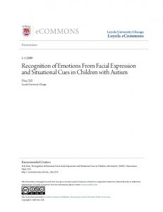 Recognition of Emotions From Facial Expression and
