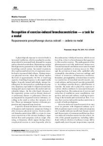 Recognition of exercise-induced bronchoconstriction - Via Medica ...