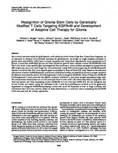 Recognition of Glioma Stem Cells by Genetically Modified T Cells ...