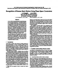 Recognition of Human Body Motion Using Phase Space ... - CiteSeerX