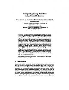 Recognizing Group Activities using Wearable ... - Semantic Scholar