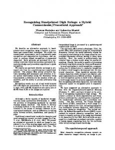 Recognizing Handprinted Digit Strings: a Hybrid ... - Semantic Scholar