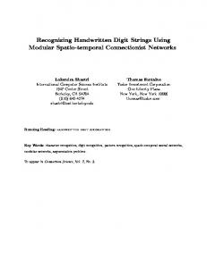 Recognizing Handwritten Digit Strings Using ... - Semantic Scholar