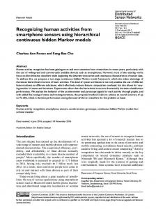 Recognizing human activities from smartphone ... - Semantic Scholar