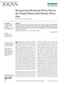 Recognizing Myofascial Pelvic Pain in the Female Patient ... - JOGNN