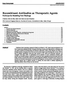 Recombinant Antibodies as Therapeutic Agents - Springer Link