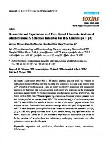 Recombinant Expression and Functional Characterization of