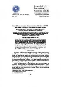 Recombinant expression of monovalent and bivalent anti-TNT ...