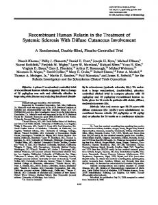 Recombinant human relaxin in the treatment of systemic sclerosis with ...