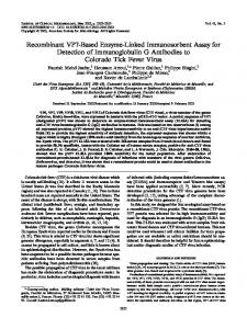 Recombinant VP7-Based Enzyme-Linked Immunosorbent Assay for ...
