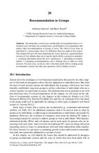 Recommendation to Groups - Springer