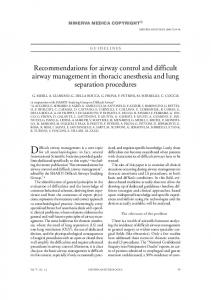 Recommendations for airway control and difficult ... - Semantic Scholar