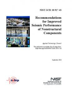 Recommendations for Improved Seismic Performance