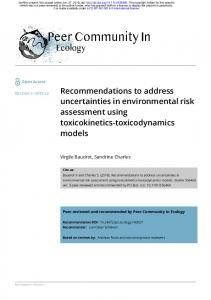 Recommendations to address uncertainties in environmental ... - bioRxiv