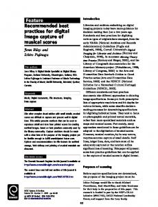 Recommended best practices for digital image ... - Semantic Scholar