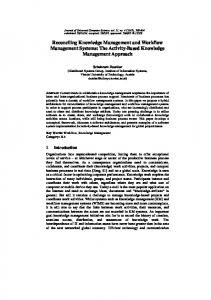 Reconciling Knowledge Management and