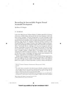 Reconciling the Irreconcilable: Progress Toward ... - Papers.ssrn.com