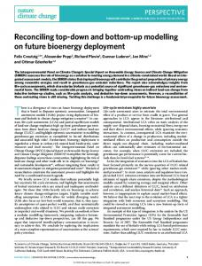 Reconciling top-down and bottom-up modelling on future bioenergy ...