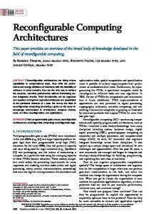 Reconfigurable Computing Architectures - IEEE Xplore