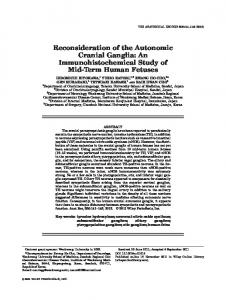 Reconsideration of the Autonomic Cranial Ganglia - Wiley Online Library