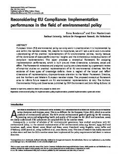Reconsidering EU Compliance: Implementation ... - Wiley Online Library