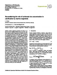 Reconsidering the role of carbonate ion ... - Biogeosciences