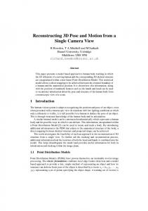Reconstructing 3D Pose and Motion from a ... - University of Surrey