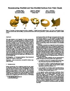 Reconstructing Manifold and Non-Manifold Surfaces from ... - Inf-UFRGS
