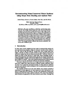 Reconstructing Mass-Conserved Water Surfaces using Shape from ...