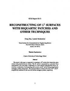 reconstructing of surfaces with biquartic patches and